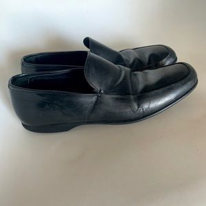Authentic Prada Black Leather Loafers Sz 7 1/2